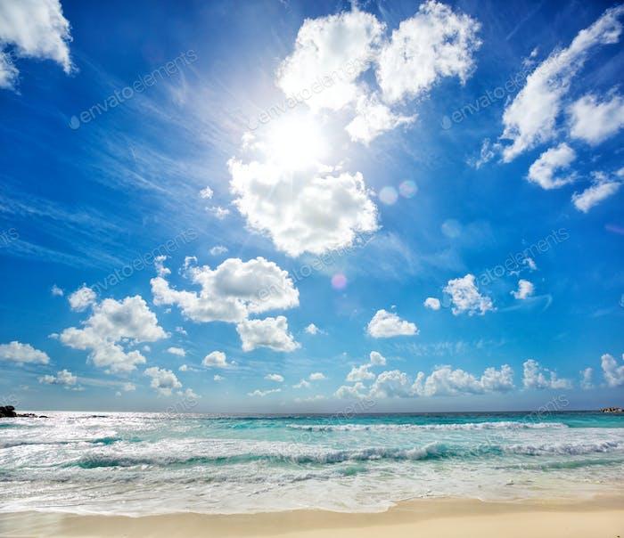 Strand Grande Anse in La Digue