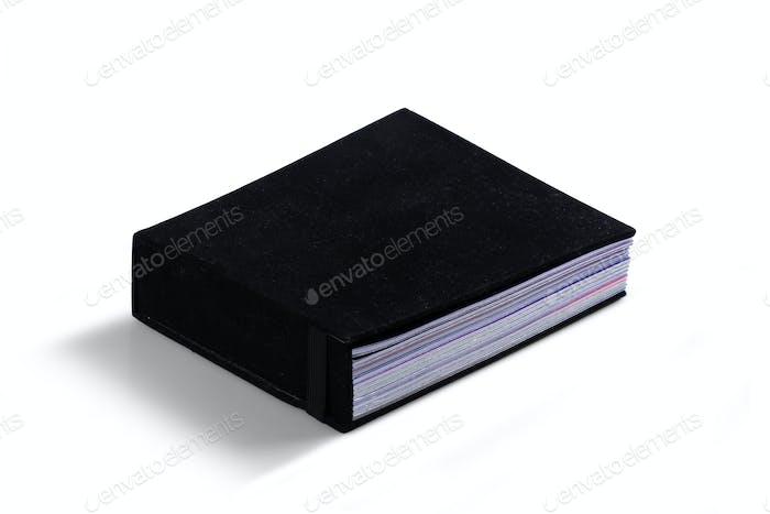 Dokumentenfeile aus schwarzem Samt