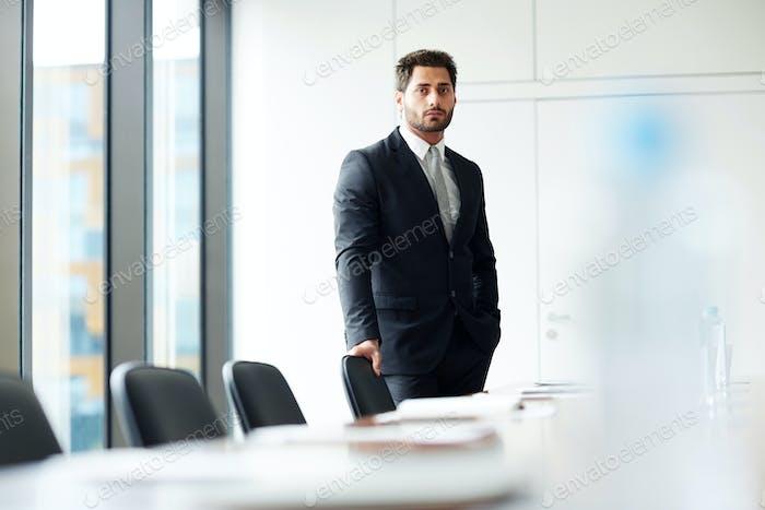 Businessman Alone in Office