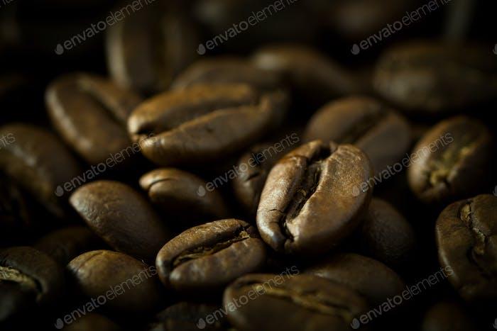 Makro Kaffeebohnen
