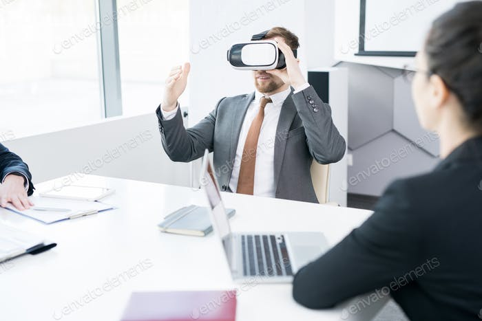 Businessman Using VR