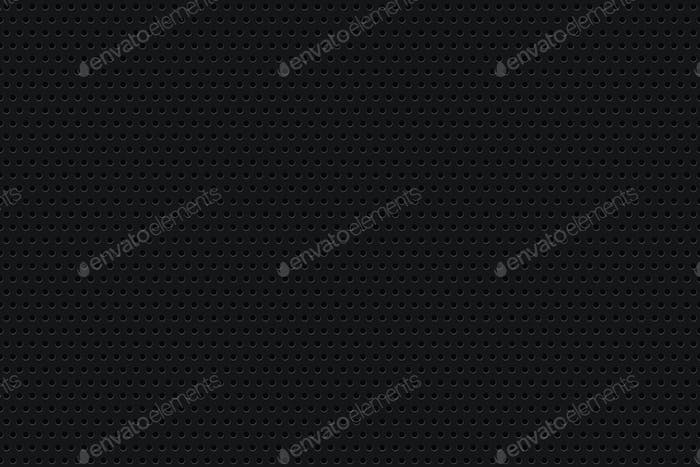 Dotted metal background. Perforated pattern