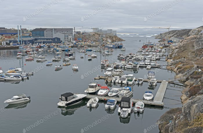 View of Illussut Harbor