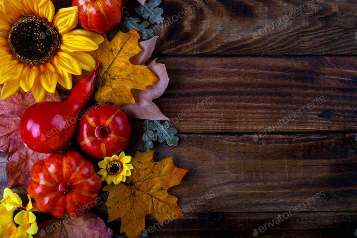 Autumn decorations background
