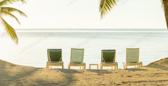 Tropical Holiday Beach Banner