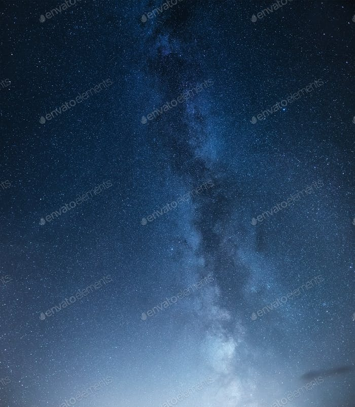 Stars background at the night. Panoramic composition