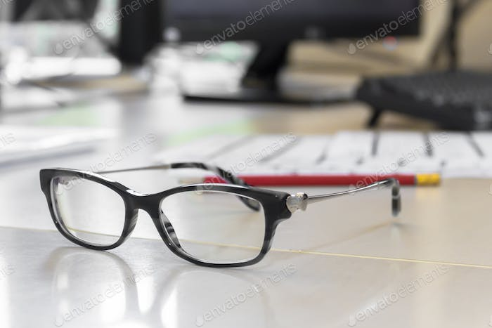 Black eyeglasses
