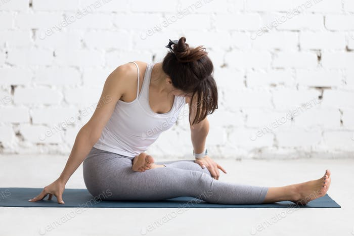 Woman warming up during sport practice