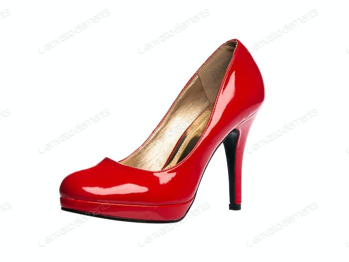 Sexy Schuh aus rotem Lackleder