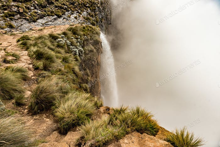 Top of Tugela Falls, the second tallest waterfall on earth