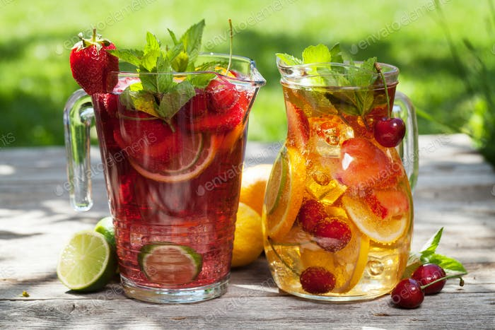 Homemade lemonade or sangria