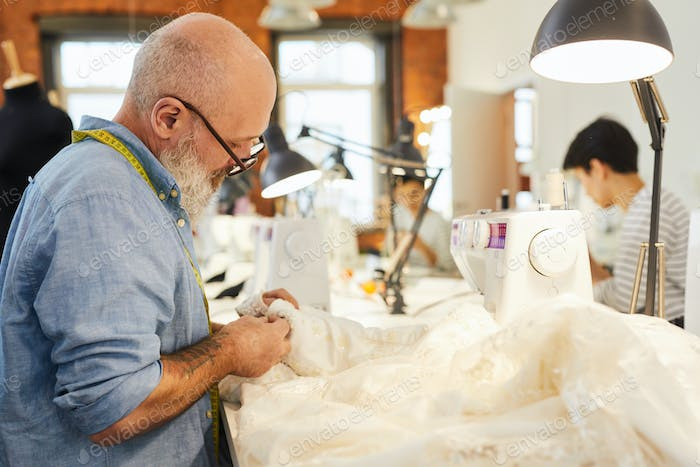 Sewing wedding gown