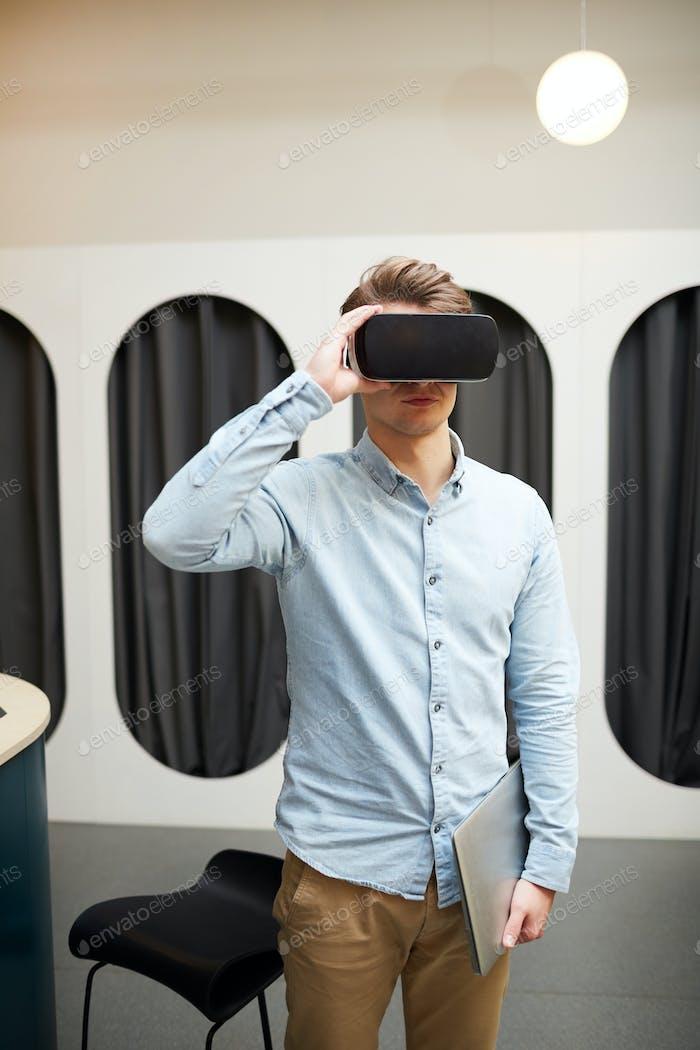 Guy in virtual world