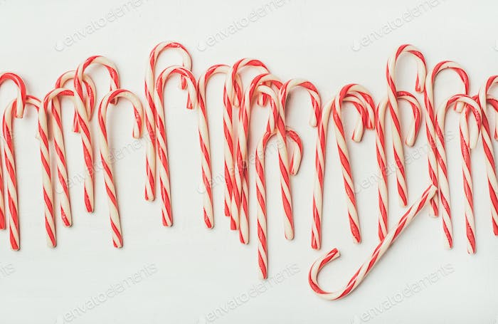 Christmas holiday red striped candy cane pattern, texture and background