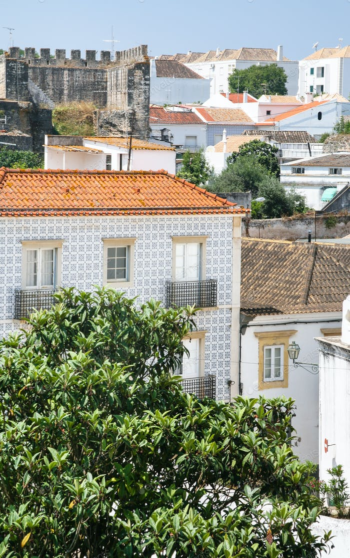 residenial houses and Castle in Tavira city