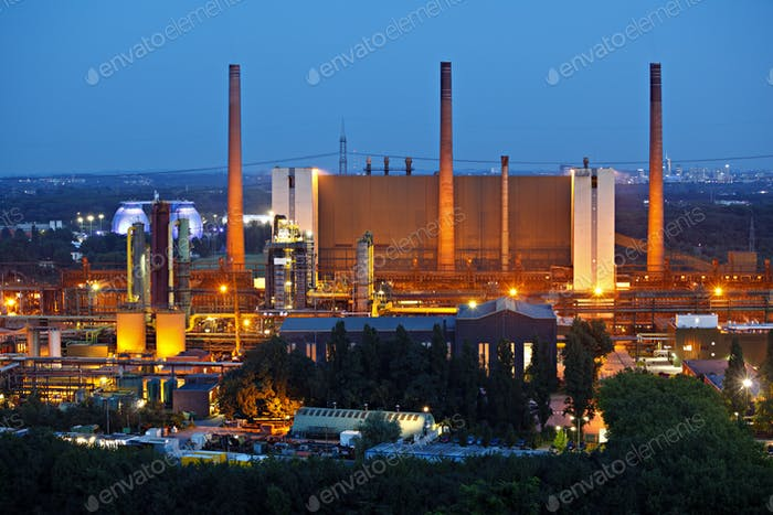 Coking Plant In The Evening