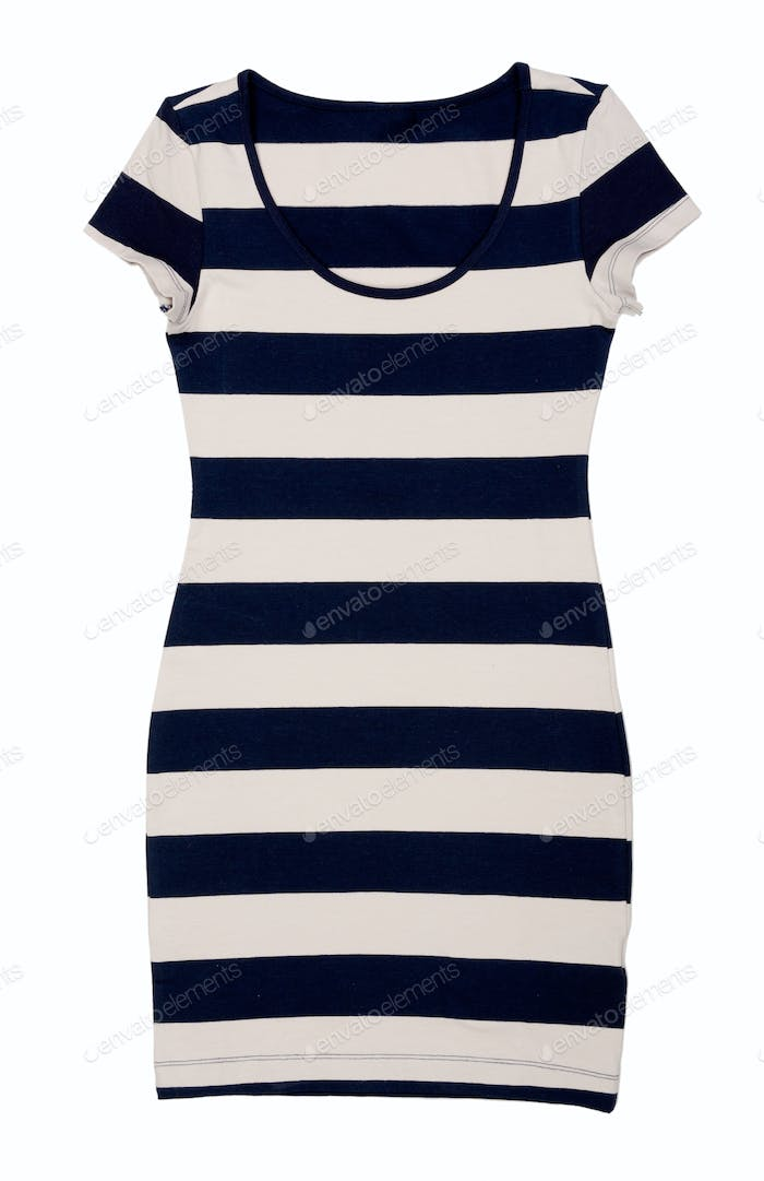 Fashionable women's striped dress