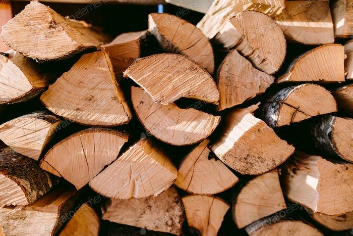 firewood log background
