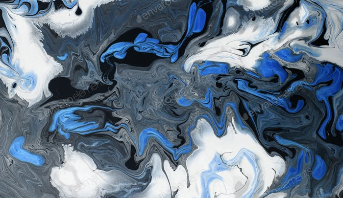 White, gray, black and blue marble texture background