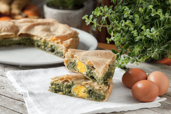 Eggs Chard Savory Pie