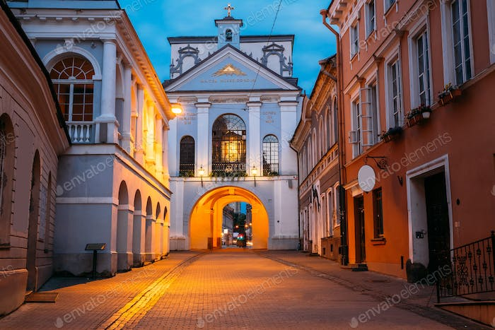 Vilnius Lithuania. Gate of Dawn, Ancient Religious Historical Mo