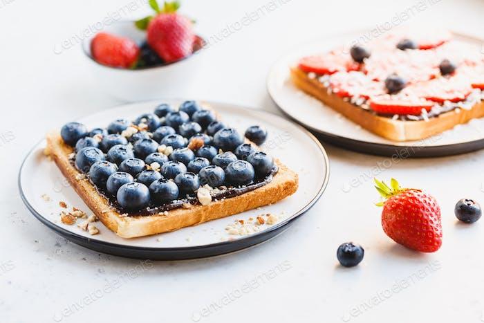 Close-up of breakfast sweet toast