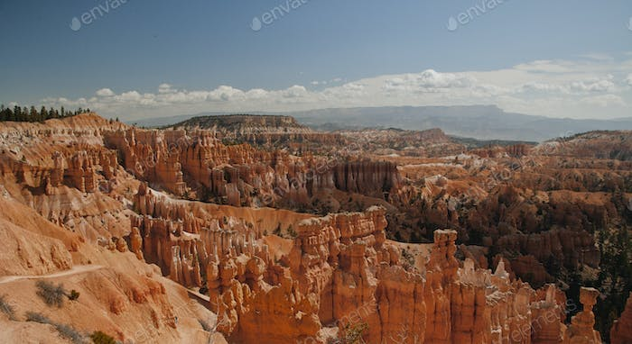 53786,Aerial view of rock formations, Bryce Canyon, Utah, United States