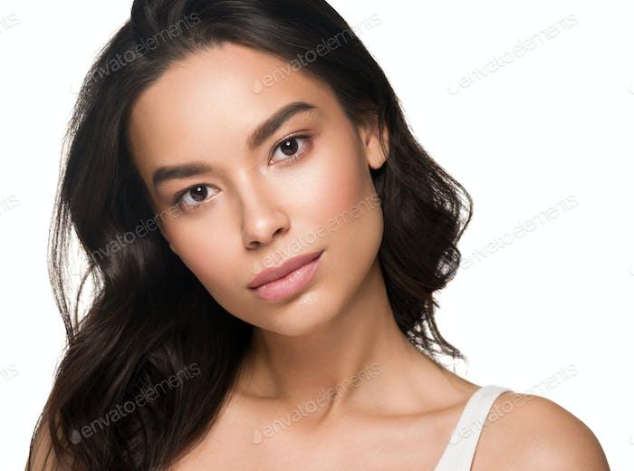 Asian woman beautiful face portrait beauty concept model