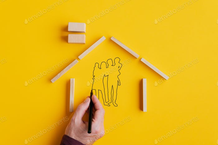 Home ownership and insurance conceptual image