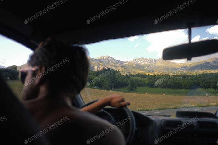 driving in the mountains