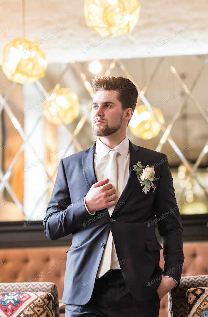 Groom in a suit