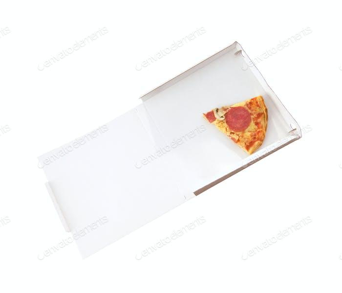 Pizzaschebe isoliert auf weiß