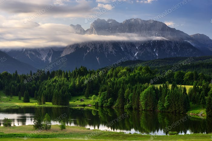 Amazing Karwendel mountain at Bavarian Alps