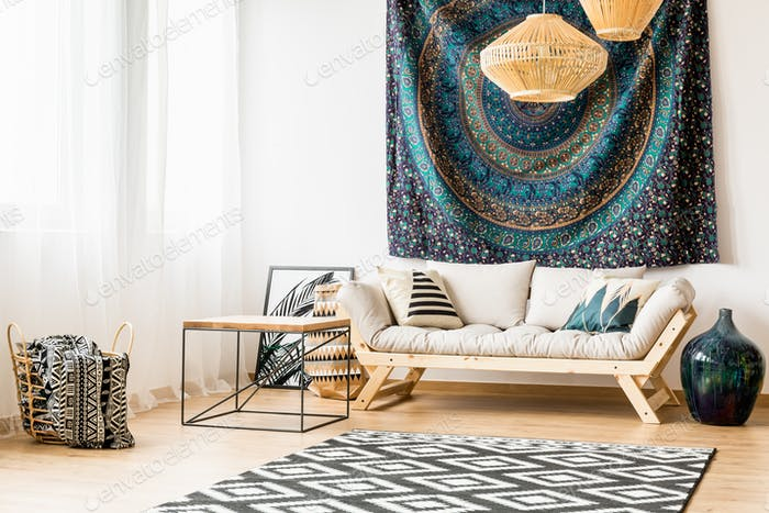 Ethnic living room decor