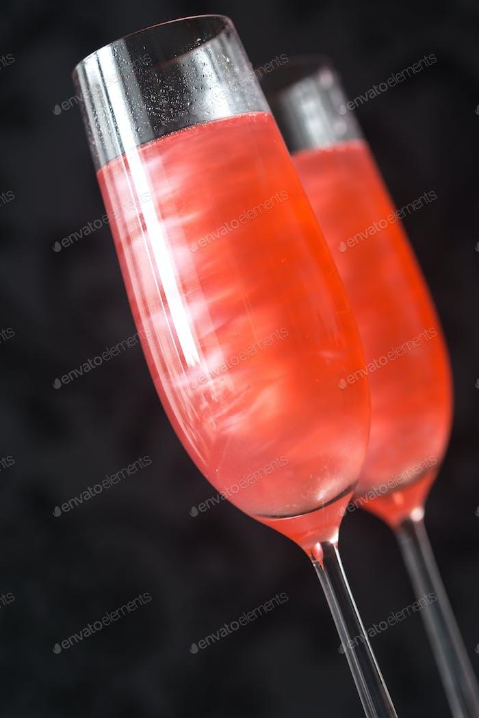 Gläser Champagner-Cocktail
