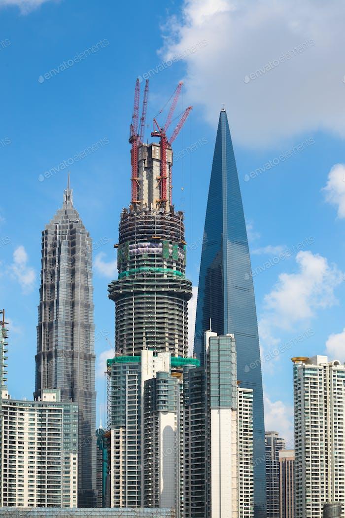 closeup of  highrise buildings