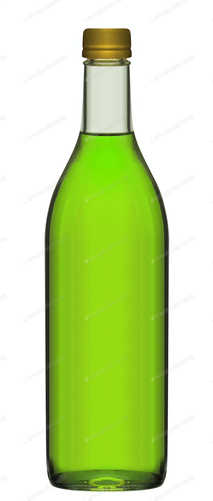 Small green beer bottle