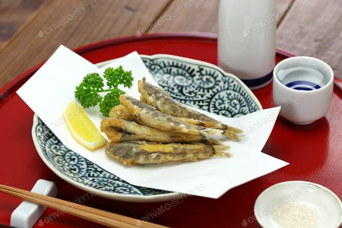 japanese fried fish dish, Mehikari No Karaage