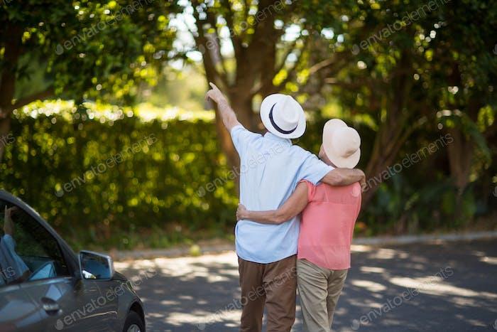 Старшая пара проводит досуг