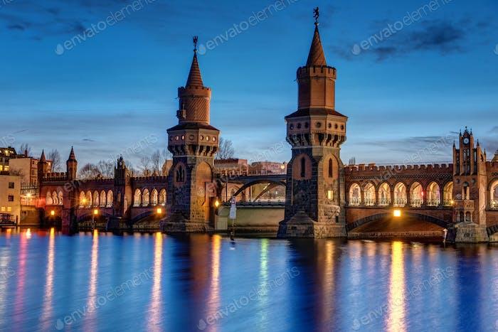 The Oberbaum Bridge in Berlin