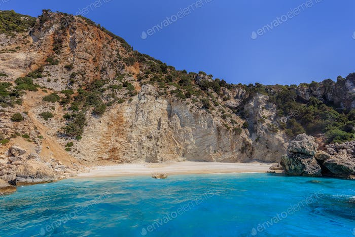 Afales beach. Ithaca, Greece