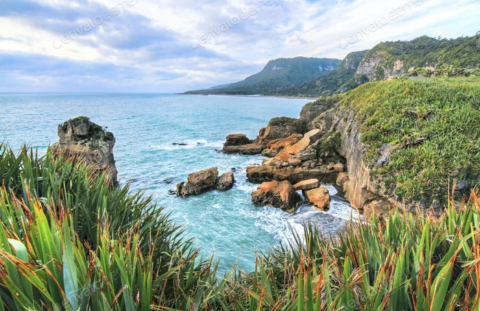 Coastal Scenery on New Zealand's South Island