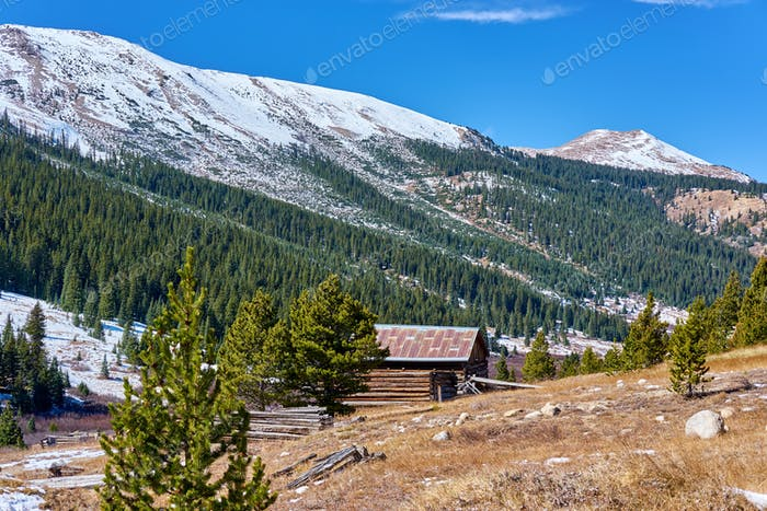Independence Ghost Town in Colorado mountains