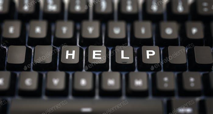 Help word written on keypad.