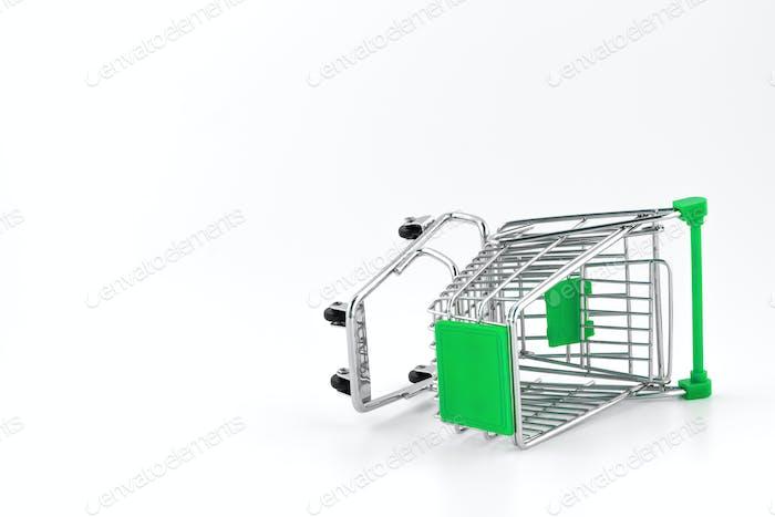 Kleiner Metall-Einkaufswagen
