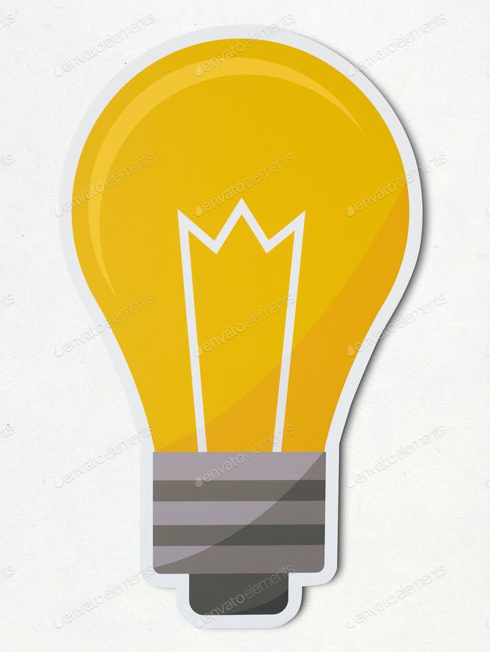 Thumbnail for Creative light bulb icon isolated
