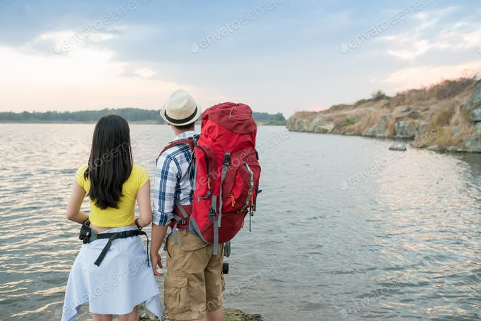Travelling couple
