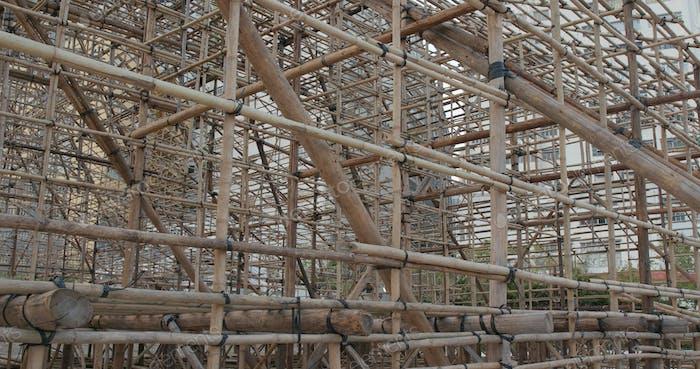 Chinese opera performance Bamboo scaffold