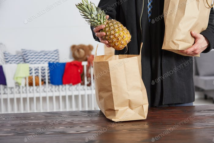 Father with shopping bags
