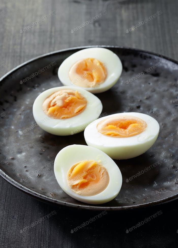 frisch gekochte Eier